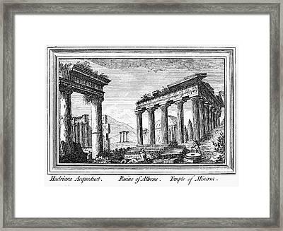 Greece: Ruins Of Athens Framed Print