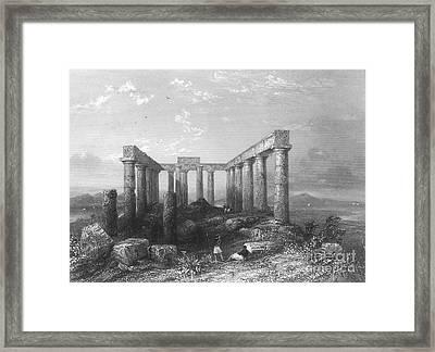 Greece: Temple Ruins Framed Print