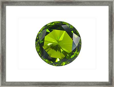 Green Gem Isolated Framed Print