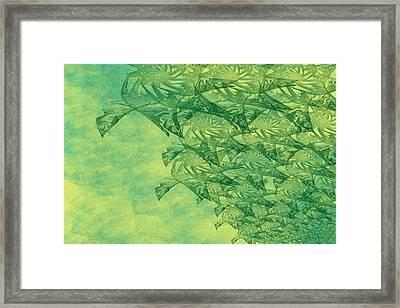 Green Invasion Framed Print