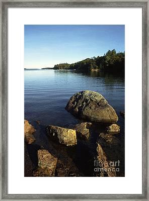 Greenlaw Cove Deer Isle Maine Framed Print by Thomas R Fletcher