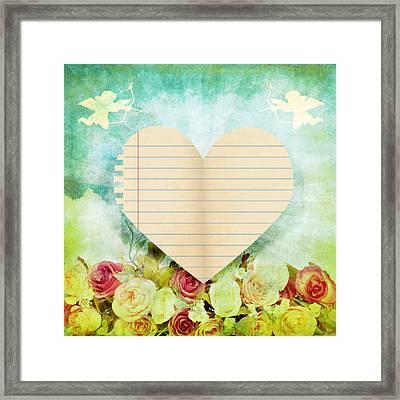 greeting card Valentine day Framed Print by Setsiri Silapasuwanchai