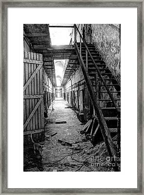 Grim Cell Block In Philadelphia Eastern State Penitentiary Framed Print by Gary Whitton