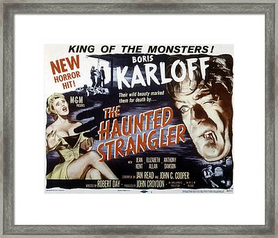 Grip Of The Strangler, Aka The Haunted Framed Print by Everett