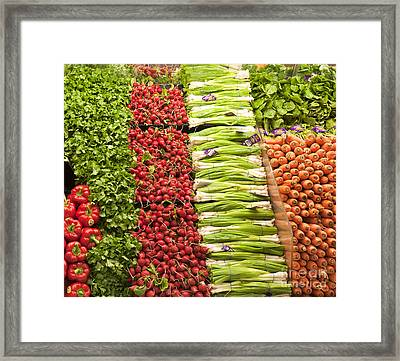 Grocery Store Produce Aisle Framed Print by David Buffington