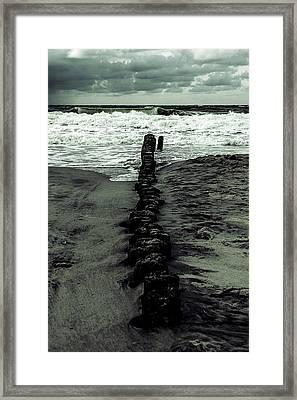 Groyne Framed Print