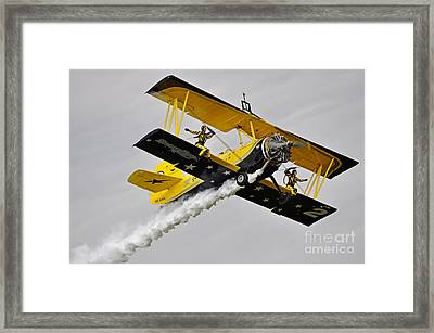 Grumman Ag 164 Wingwalker Framed Print by Conny Sjostrom
