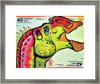 Gryposaurus Framed Print