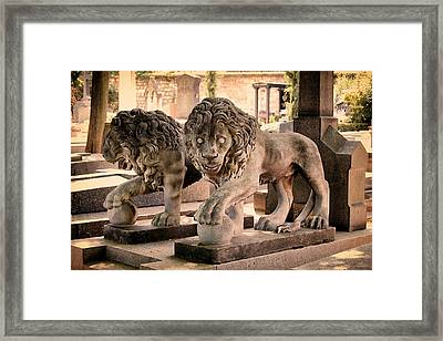 Guardians Of The Tomb  Framed Print by Tony Grider