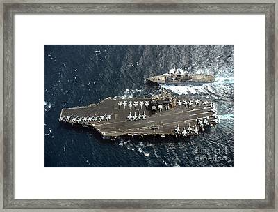 Guided Missile Destroyer Uss Mccampbell Framed Print