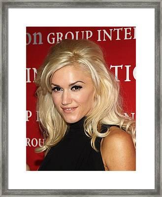 Gwen Stefani At Arrivals For Fashion Framed Print by Everett