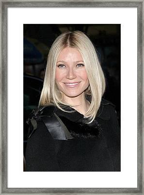 Gwyneth Paltrow At Arrivals Framed Print