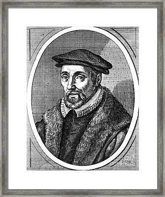 Hadrianus Junius, Dutch Physican Framed Print by Science Source