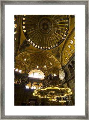 Framed Print featuring the photograph Hagia Sofia by Leslie Leda