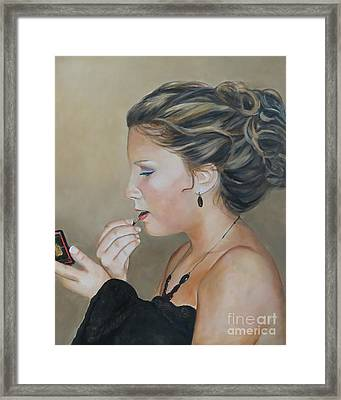 Haley Framed Print by Charlotte Yealey