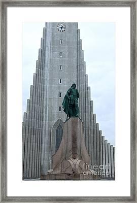 Hallgrimskirkja Church - Reykjavik Iceland  Framed Print by Gregory Dyer