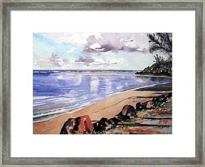 Hanalei Bay Framed Print by Jon Shepodd