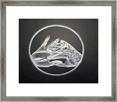 Hands Of Light Framed Print by Linda Pope