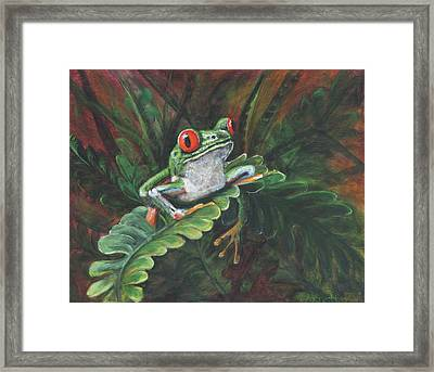 Framed Print featuring the painting Hanging Around by Pauline  Kretler