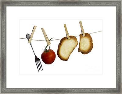 Hanging Food Framed Print