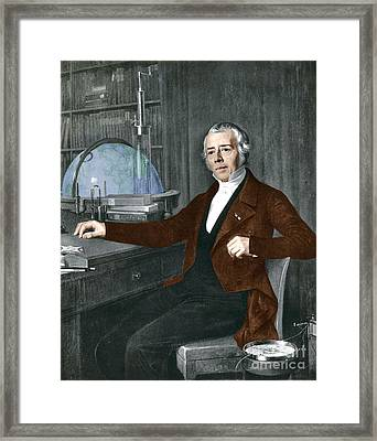 Hans Christian �rsted, Danish Physicist Framed Print by Photo Researchers