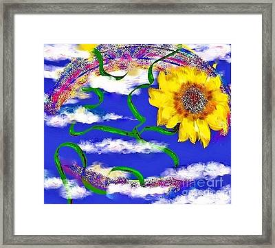Happiness Is A Sunflower Framed Print by Lori  Lovetere