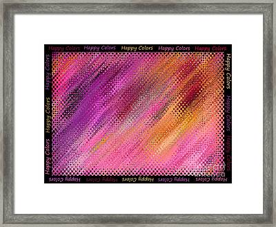 Happy Colors Abstract Framed Print by Carol Groenen