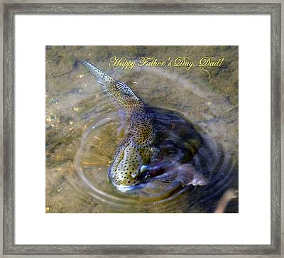 Happy Fathers Day Framed Print