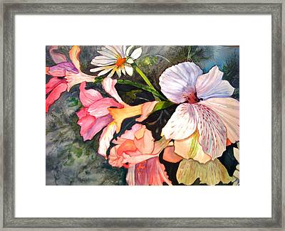 Framed Print featuring the painting Happy Mother's Day by AnnE Dentler