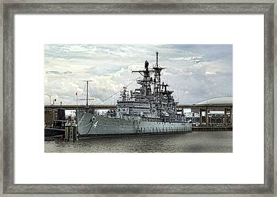 Harbor Queen Framed Print by Peter Chilelli