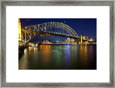 Harbour Lights Framed Print by Renee Doyle