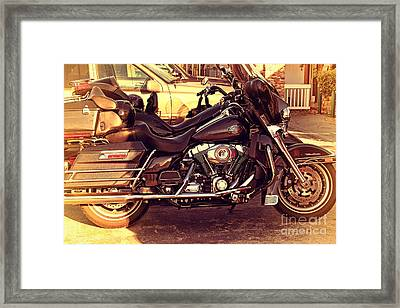 Harley-davidson Motorcycle . 7d10793 Framed Print by Wingsdomain Art and Photography