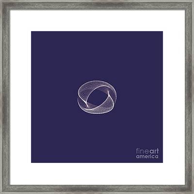 Harmonograph Phase Pattern Framed Print