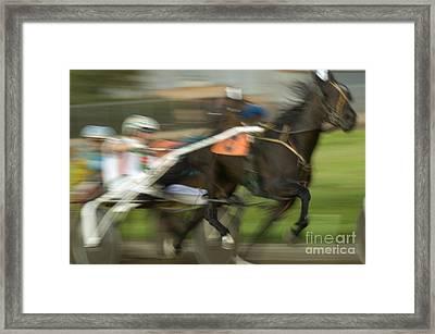 Harness Racing 8 Framed Print by Bob Christopher