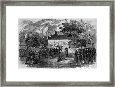 Harpers Ferry Insurrection, 1859 Framed Print by Photo Researchers