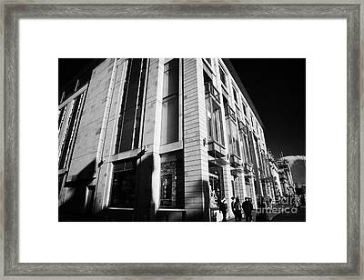 Harvey Nichols Store St Andrew Square Edinburgh Scotland Uk United Kingdom Framed Print by Joe Fox