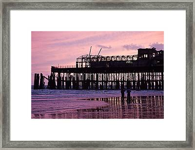 Hastings Pier After The Fire Framed Print by Dawn OConnor