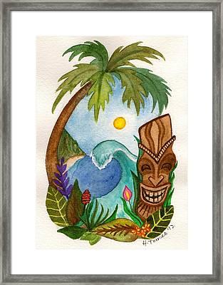 Hawaiian Vignette Framed Print by Heather Torres