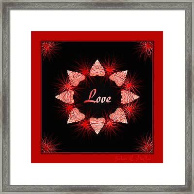 Framed Print featuring the digital art Hearts Of Love by Barbara MacPhail