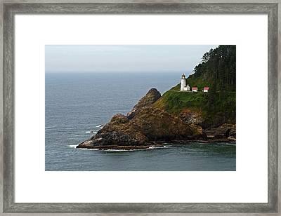 Heceta Head Lighthouse Framed Print by Jake Johnson