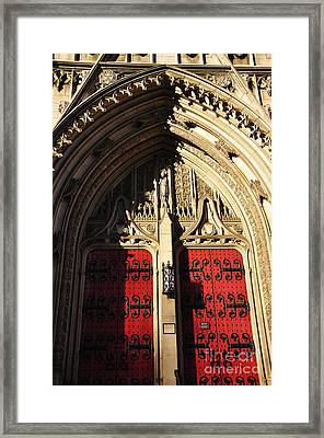 Heinz Chapel Doors Framed Print by Thomas R Fletcher