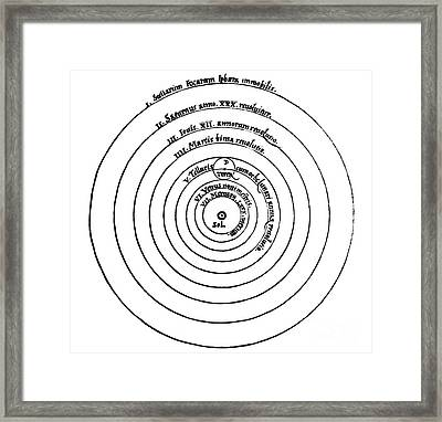 Heliocentric Universe, Copernicus, 1543 Framed Print by Science Source