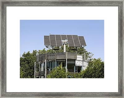 Heliotrope Solar House Framed Print by Martin Bond