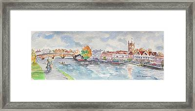 Framed Print featuring the painting Henley On Thames by Geeta Biswas