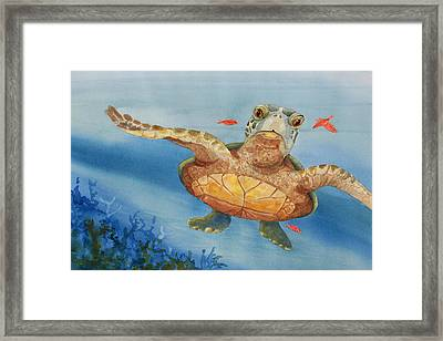 Henry C. Turtle-lunch With Friends Framed Print