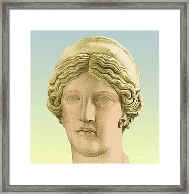 Hera, Greek Goddess Framed Print by Photo Researchers
