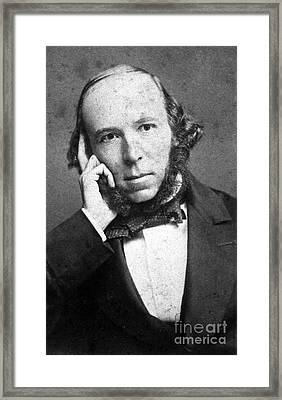Herbert Spencer, English Polymath Framed Print