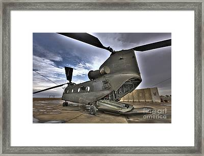 High Dynamic Range Image Of A Ch-47 Framed Print by Terry Moore