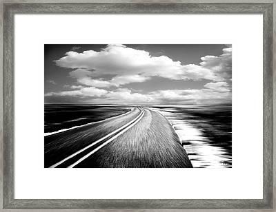 Highway Run Framed Print by Scott Pellegrin