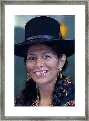 Hispanic Columbus Day Parade Nyc 11 9 11 Framed Print by Robert Ullmann